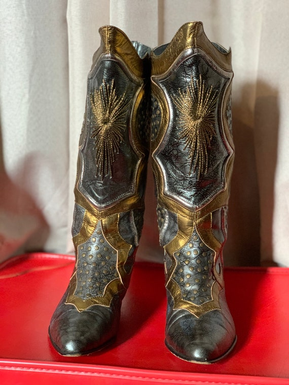 Silver and Gold boots
