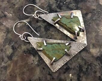 Silver Earrings, Vistaite,  Artisan Jewelry, Jewelry Art, Handmade, Metalsmith, Artisan Jewelry, Art Jewelry