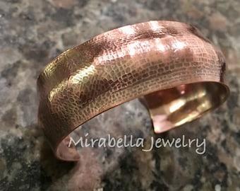 Copper Cuff, Handmade,Hammered, Cuff, Metalsmith, Artisan Jewelry