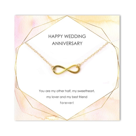 Wedding Anniversary Gift From Husband To Wife Infinity Etsy