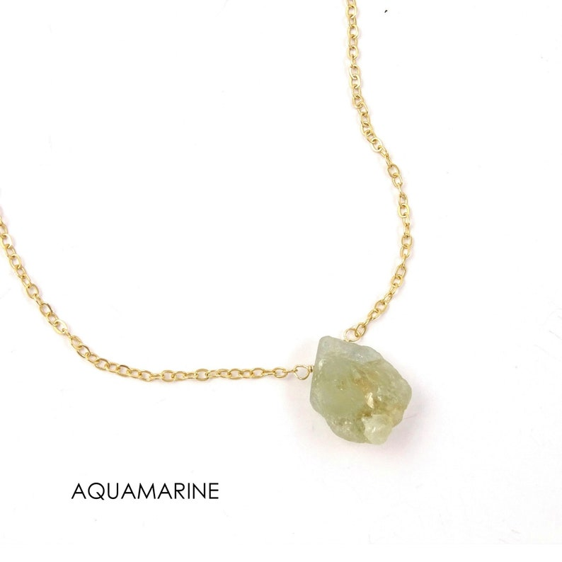 Turquoise Necklace for Women  December Birthstone  Genuine Gemstone Necklace  Natural Raw Stone Necklace  Gift for Her Birthday under 30
