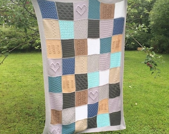 Crochet blanket, throw, quilt. Hankdmade, multicolored
