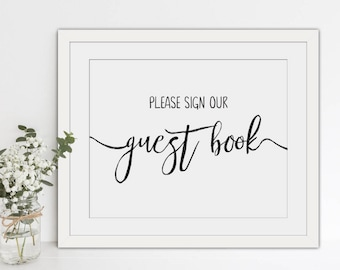INSTANT DOWNLOAD - Abigail Collection - Printable 'Please Sign Our Guest Book' Sign - 8x10