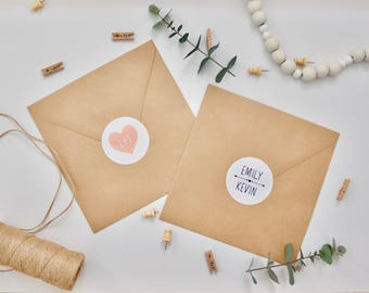 Wedding Stickers - Personalised Wedding Envelope Stickers