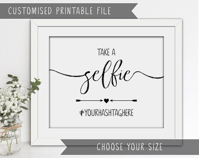 Printable Wedding Selfie Sign - Personalised Digital File