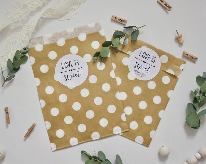 CUSTOM Wedding Stickers - Love is Sweet Candy Bar Stickers - Personalised or non-personalised - Favour Favor Stickers - White Gloss