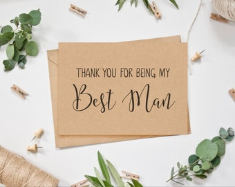 Best Man Card - Thank you for being my Best Man