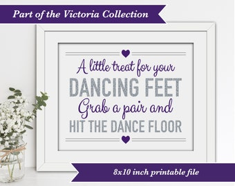 INSTANT DOWNLOAD - Printable Wedding Flip Flops Sign - Victoria Collection