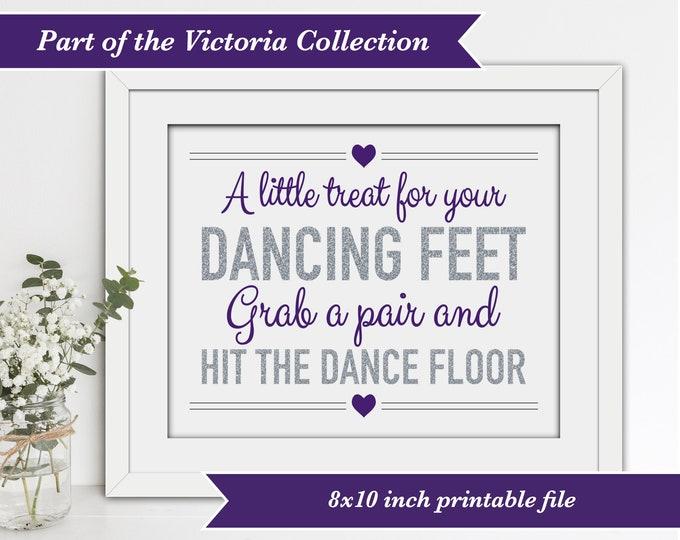 INSTANT DOWNLOAD - Printable Wedding Flip Flops Sign - Victoria Collection