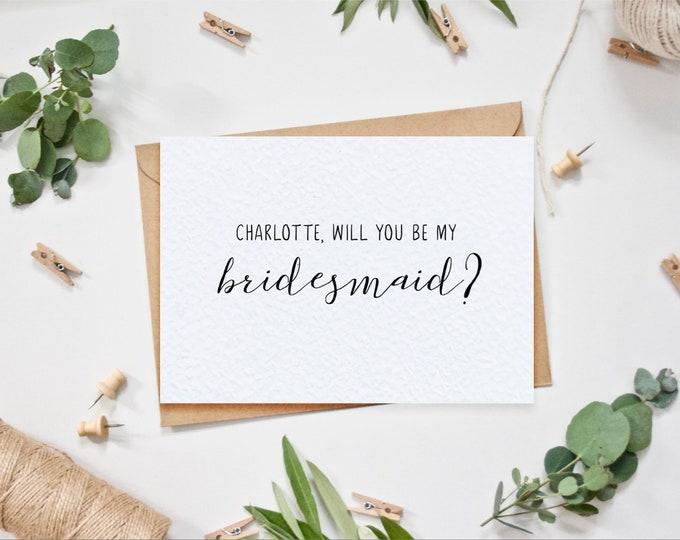 Personalised Bridesmaid Proposal Card