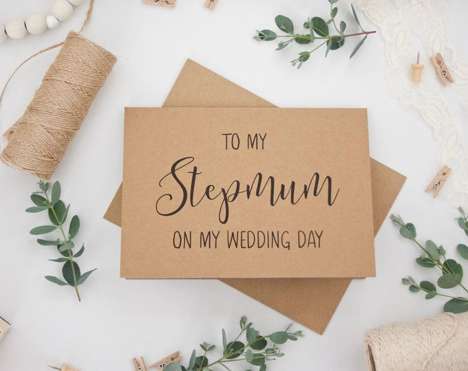 'To My Stepmum on My Wedding Day' 5x7 Card