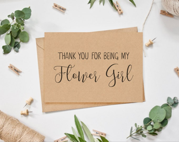 Flower Girl Card - Thank you for being my/our Flower Girl