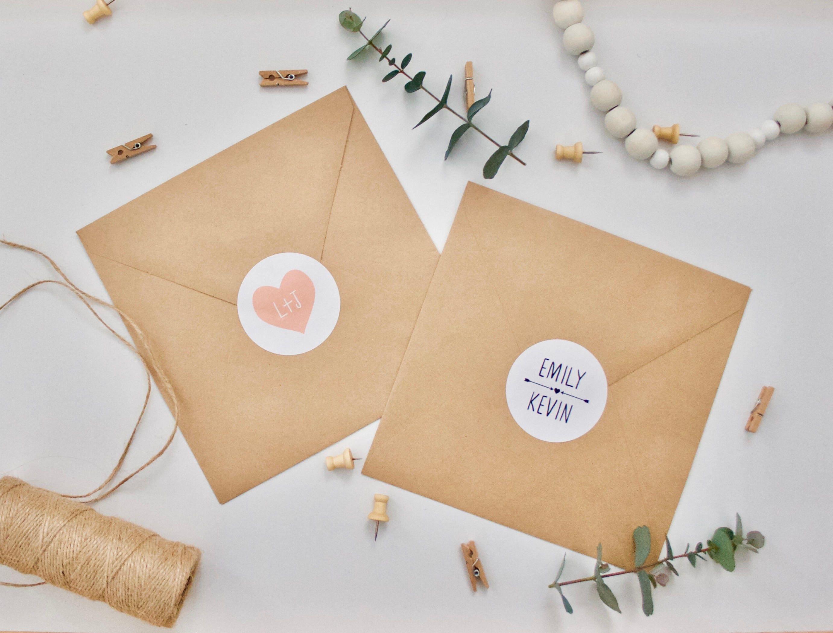 custom stickers personalised wedding envelope stickers gloss