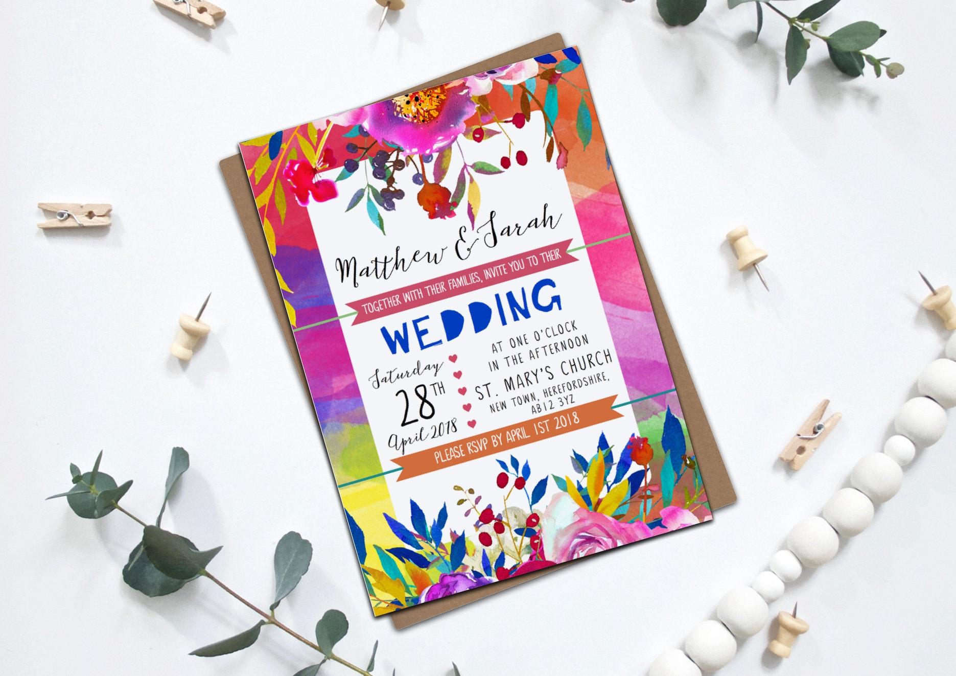 Bright Wedding Invitations: Bright Bold Wedding Stationery