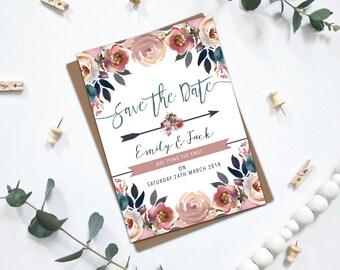 PRINTABLE Wedding Save the Dates - Layla Collection