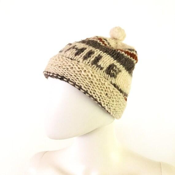 Vintage hat, Chilean hat, Chile hat, hand-knit vin
