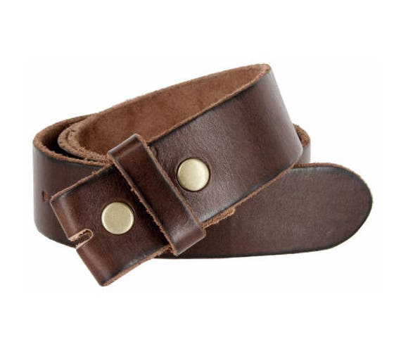 Genuine Leather Thick and Soft Leather Snap Belt Strap Men's Women's Chocolate Brown Cool s Sale Gift Idea
