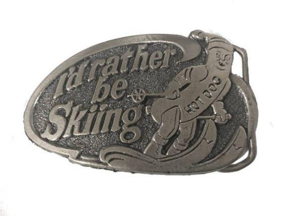 Made In U.S.A. Vintage 1978 I/'d Rather Be Hunting Belt Buckle