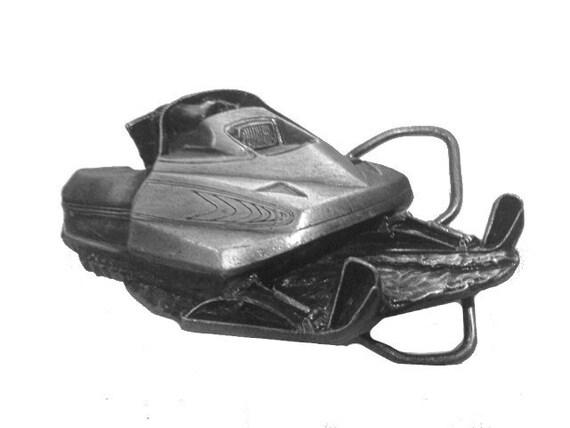 Illinois Association Of Snowmobile Club Snowmobiling Organizations Snowmobiles 1980s Vintage Belt Buckle
