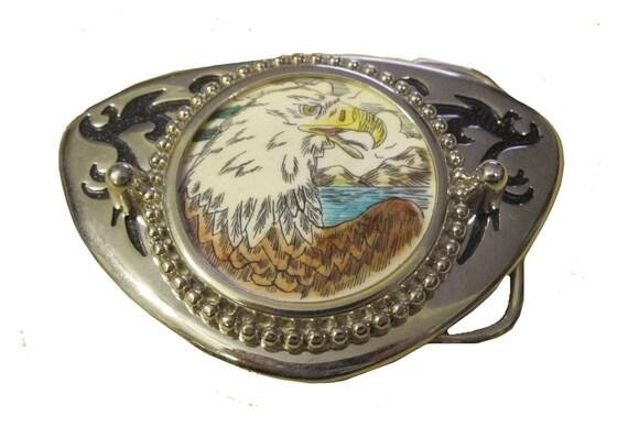 Vintage Fleur Décoratif Belt buck antique Western Horse Head Boucle de ceinture