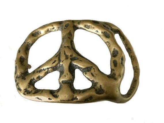 Signe de paix vintage boucle de ceinture symbole paix dans   Etsy e7241ddafc5