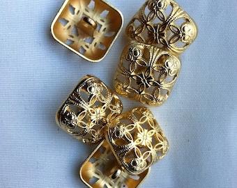 SQUARE GOLD LATTICE button    A4
