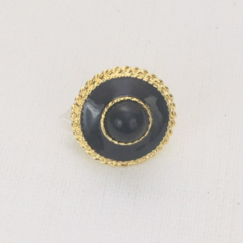 BLACK ENAMEL and BLACK Dome Button    A13