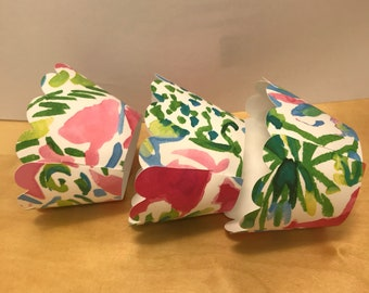 Lilly Inspired Cupcake Wrappers   12 wrappers per set