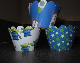 Buzz Lightyear Cupcake Wrappers  Set of 12 Toy Story Aliens