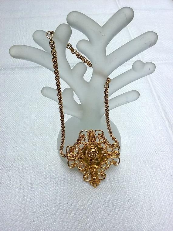 Hobé Etruscan Revival style necklace, vintage Hobe