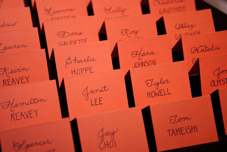 Custom Handwritten Wedding Calligraphy Place Cards Escort | Etsy