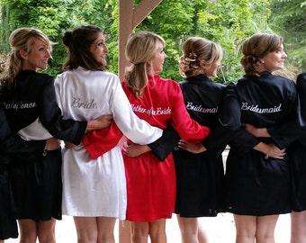 Bridesmaid Robes in 25+ Colors for Weddings Bride Robe Wedding Robes Bridal  Party Robes Maternity Robe Floral Bridesmaid Robes Satin 5e3b79889