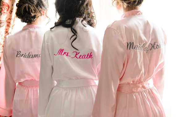 b199138624 Bridal Shower Gift Embroidered Personalized Robe Custom MRS.