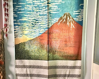 Tapestry, Photo Backdrop, Curtain, Mt. Fuji, Nature Decor Curtain Hanging Tapestry Wall Art Window Curtain.