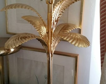 afe72a1b18bd9 Palm Tree Vintage Brass 1970s Lamp Mid Century Modern Lighting Palm Beach  Style Tropical Hollywood Regency