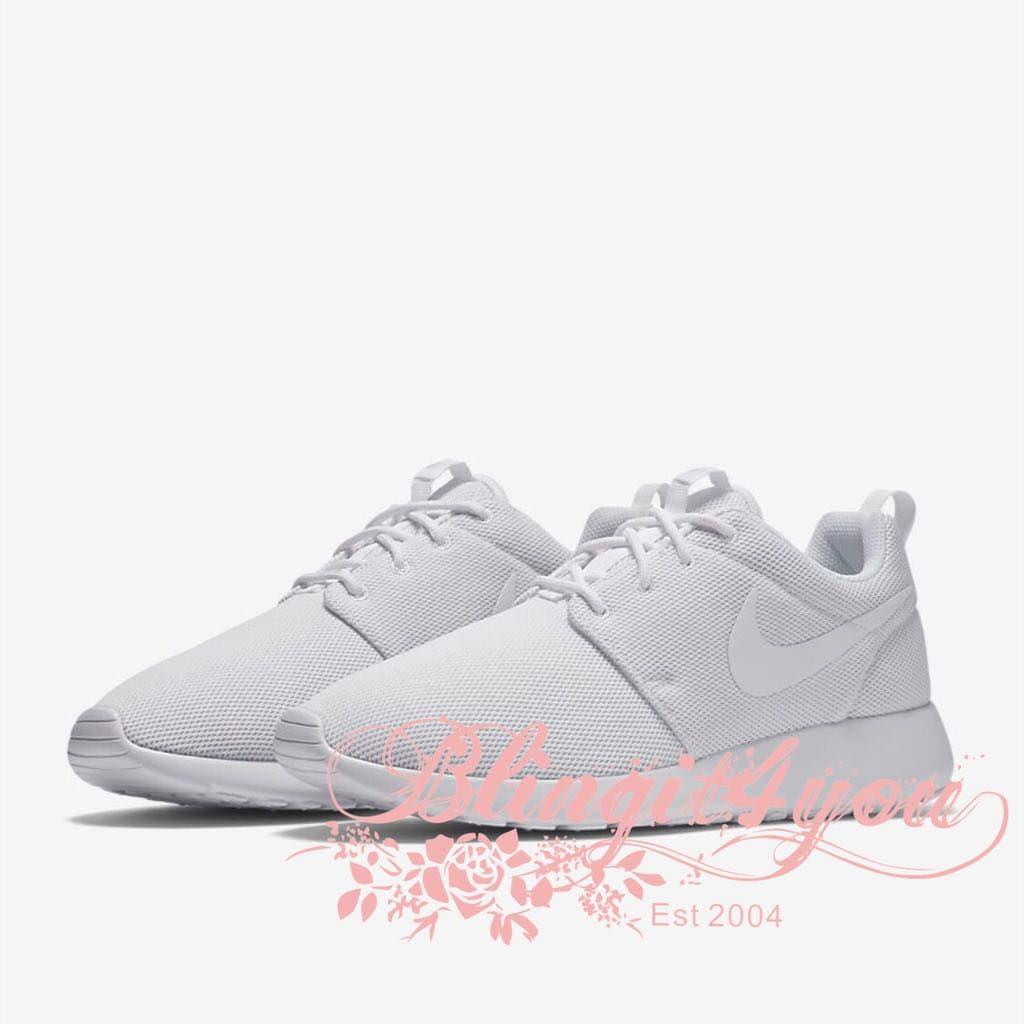 Bling White Nike Roshe One Shoes