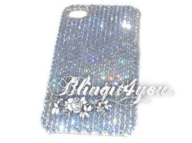 brand new 96600 44df9 iPhone 10 X XS ss16 Swarovski Crystal Light Blue Rhinestone Phone case  Custom make Bling iPhone 10 Case Luxury Gift idea for her for mom