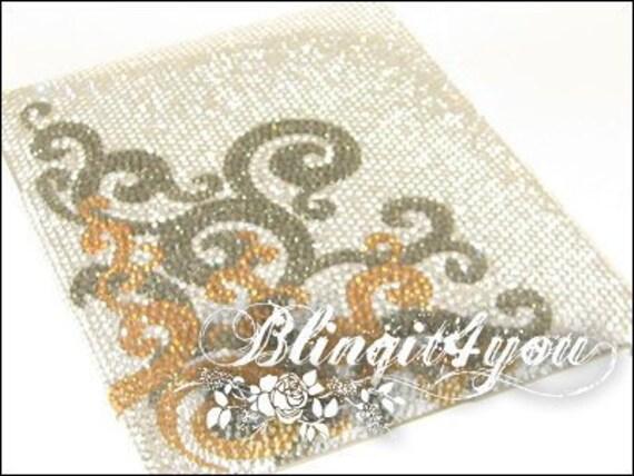 Personalized Rhinestone Swirl Shinny Bling Diamond Back Case Cover for IPad Air mini iPad Pro Handmade with 100% Swarovski Crystal Elements