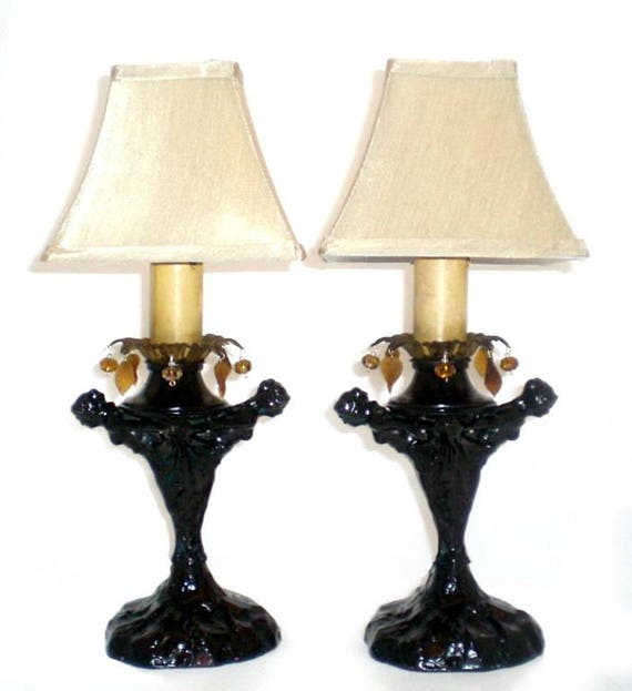 Art deconouveau erotica nude pair lady figurine design resin table lamps black
