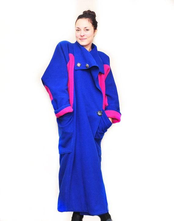 Custom Wool Full Length Cocoon Coat - Art Deco Coc