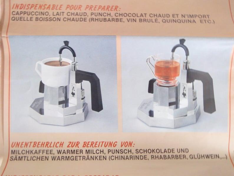 Cappuccino Latte Coffee Maker Stove Top Bialetti Termocrem Vintage Retro Kitchen Milk Steamer Boxed Italian Espresso Maker