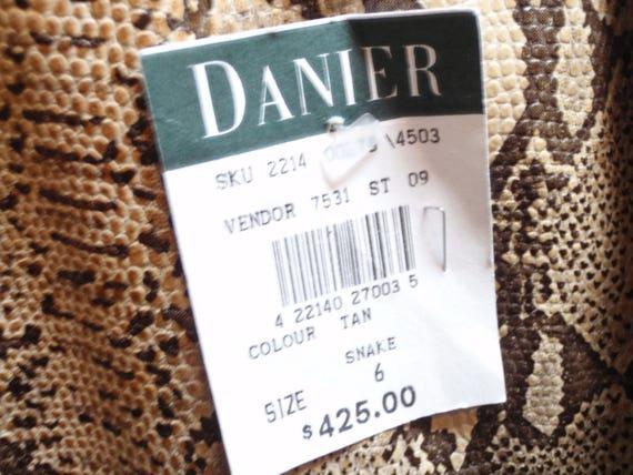 Ladies Snake Skin Leather Pants - Designer Womens… - image 5