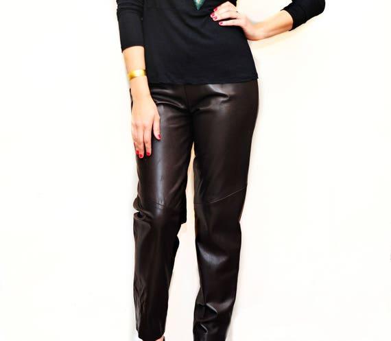 Ladies Snake Skin Leather Pants - Designer Womens… - image 9