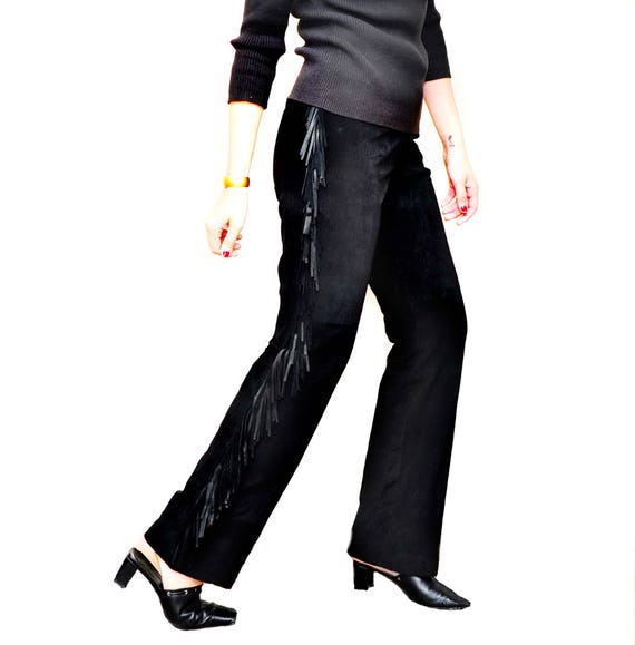 Ladies Snake Skin Leather Pants - Designer Womens… - image 6