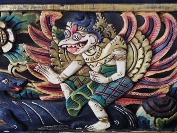 Balinese Ramayana Wood Wall Panel Indonesian Temple Carving | Etsy