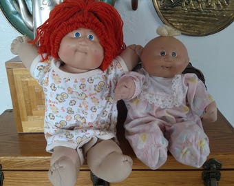 Two Vintage 1982 Cabbage Patch Dolls