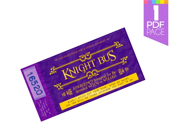 harrys knight bus ticket template potter party with