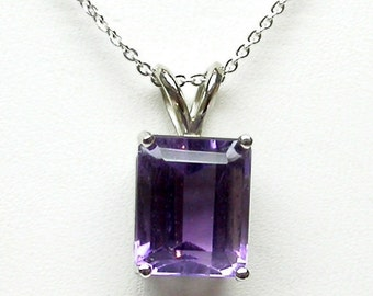 Amethyst necklace/ Purple Amethyst Pendant/ Sterling Silver Amethyst Necklace/ February Birthstone/ Gift for her/ February Birthday