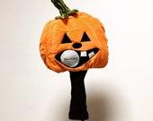 Halloween Pumpkin GOLF Club headcover - fun golfing gift Hole-in-one