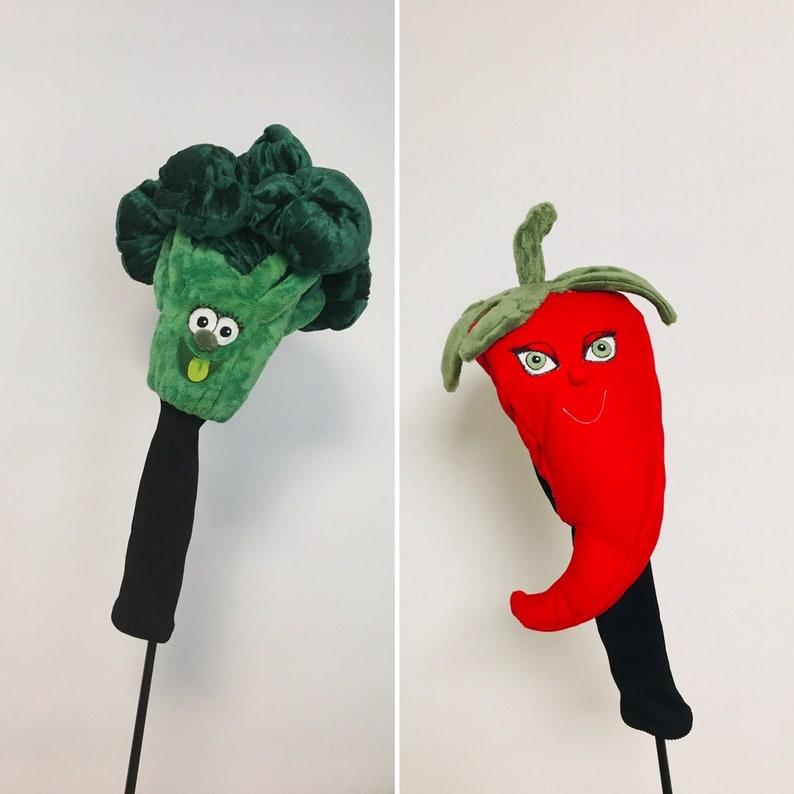 Vegetable Custom made Golf headcover pepper  broccoli-Fun image 0